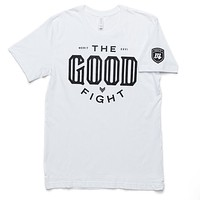 The Good Fight Tee - White/Black
