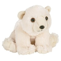 Polar Bear Sitting Plush Toy