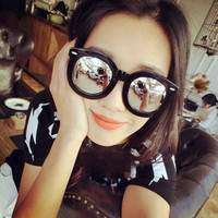 Silver Lens Color Film Reflective Sunglasses