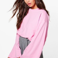Freya Oversized Wide Sleeve Sweatshirt | Boohoo