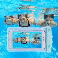 Universal mobile phone waterproof outdoor cartoon pvc transparent bags diving queen phone arm drift diving sets