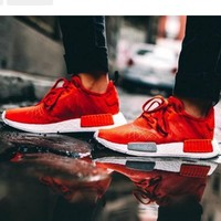 Women Adidas NMD Boost Casual Sports Shoes Red