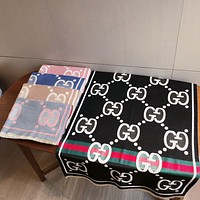 GUCCI   Trending Fashion  Embroider Easy to match Silk Scarf