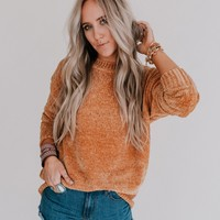Robbie Chenille Sweater - Coffee