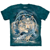 IN SPIRIT I AM FREE Wolf T-Shirt Mountain Native American Indian Wolves S-5XL