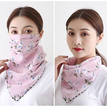 1 Fits All - Pink BWht - Face Mask Scarf