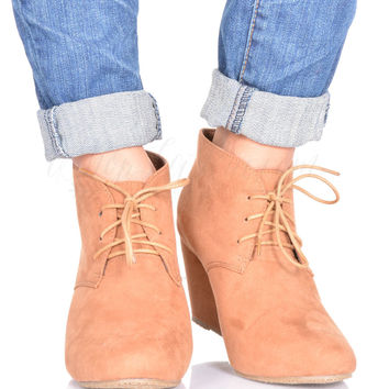 Never Enough Bootie in Camel