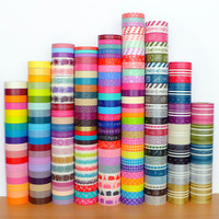 Choose 6 designs - Mark's washi tapes, group A (1 metre per design, 6 metres in total)