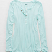 Aerie Henley Tunic, Heather Frost