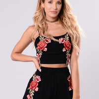 Adora Rose Top - Black