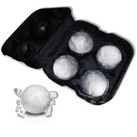 Silicone Ice Ball Maker 4.5CM of 4PCS for Each Mold, Black