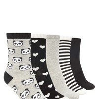Hearts and Pandas Sock Set
