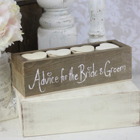 Rustic Guest Book Box Alternative Advice For The Bride and Groom (item P10244)