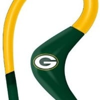iHip NFSE82GBP NFL Sport Ear Buds with In-Line Microphone - Green Bay Packers Green/Yellow