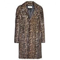 saint laurent - leopard-print marmot fur coat