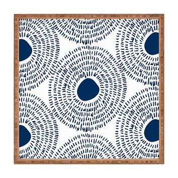 Camilla Foss Circles In Blue II Square Tray