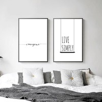 Nordic Decoration Motivational Life Quote Canvas Posters Minimalist Canvas Prints Wall Art Painting Decorative Pictures
