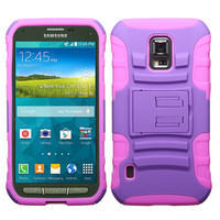 MYBAT Advanced Armor Stand Case for Galaxy S5 Active - Purple/Pink