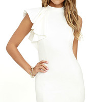 Au Revoir Ivory Bodycon Dress