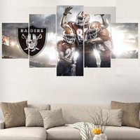 Rugby Football Paintings Oakland Raiders Modern Home Decor Living Room Bedroom Wall Art Canvas Print Painting Calligraphy