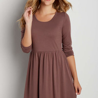 soft knit dress with tie back | maurices