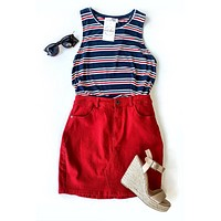 Knock Out Mini Skirt - Red
