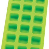 HIC Green Silicone 18 Hole Ice Cube Tray and Baking Mold