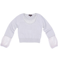 Imoga Caitlin Necklace Sweater - Beige - FINAL SALE