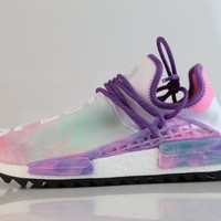 BC QIYIF Adidas PW Pharrell Williams HU Human Race NMD HOLI MC Pink Glow Flash Green AC7362 (NO Codes)