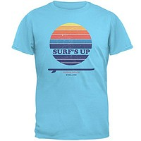Surf's Up Fistral Beach England Sky Adult T-Shirt