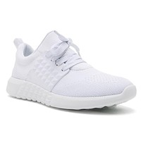 On The Run Athletic Tennis Shoes In White