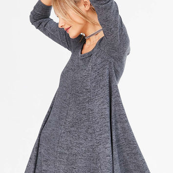 BDG Aiden Cozy Swing Mini Dress - Urban Outfitters