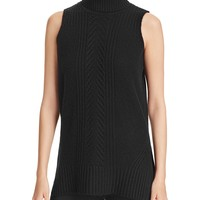 C by Bloomingdale'sCable-Knit Sleeveless Cashmere Sweater