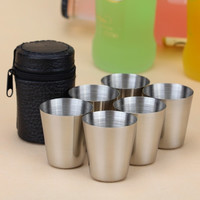 Wine Beer Whiskey Outdoor Travel Cup 6 Pieces