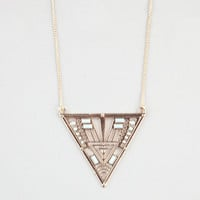 Full Tilt Triangle Necklace Gold One Size For Women 24244262101