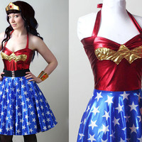 retro Wonder Woman dress custom - smarmyclothes - costume cosplay
