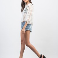 Floral Embroidered Poncho