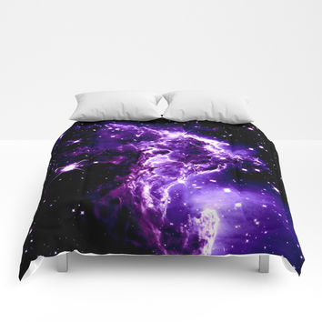 Purple Monkey Head Nebula Galaxy Space Comforters by Space Universe GalaxyDreams