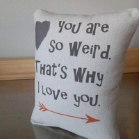 Weird pillow funny cushion guy gift boyfriend birthday gift