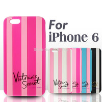 In Stock!! For iPhone 6 PLUS 5.5 / For Apple iPhone 6 4.7 inch Victoria/'s Secret PINK Soft Silicon Stripe Luxury Case Covers