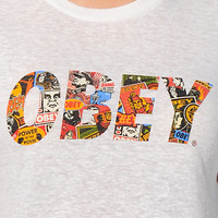Obey Collage Natural Back Alley Tee Shirt