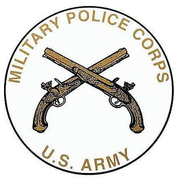 Army Military Police Corps Insignia Clear Decal
