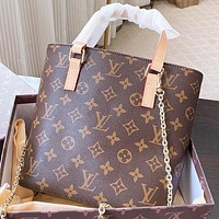 LV Fashion New Monogram Print Leather Shoulder Bag Handbag Crossbody Bag