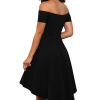 Sexy Elegant Party Bodycon Club Off Shoulder Dress Red Black Blue Casual Vintage Midi Dresses Plus Size