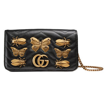 Gucci GG Marmont Animal Studs Mini Bag - Farfetch