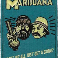 Cheech And Chong Iron-On Patch Can't We All Logo