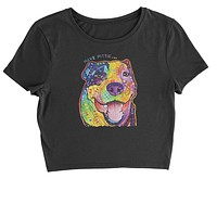 Have Pittie Neon Pitbull Cropped T-Shirt