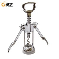ORZ Wing Corkscrew Wine Opener Stainless Steel Handle Pressure Red Wine Bottle Stopper Corkscrew Wedding Gift Kitchen Bar Tools