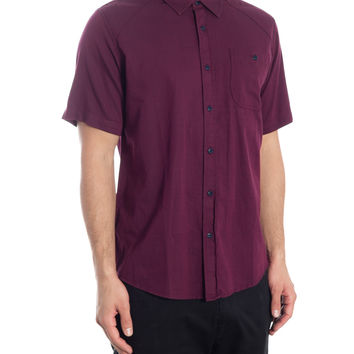 Canopy Short Sleeve Shirt - Bordeaux