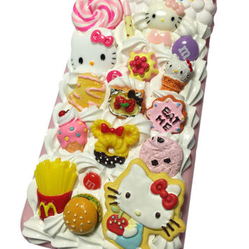 Made to Order! Kawaii Kitty Decoden Phone Case